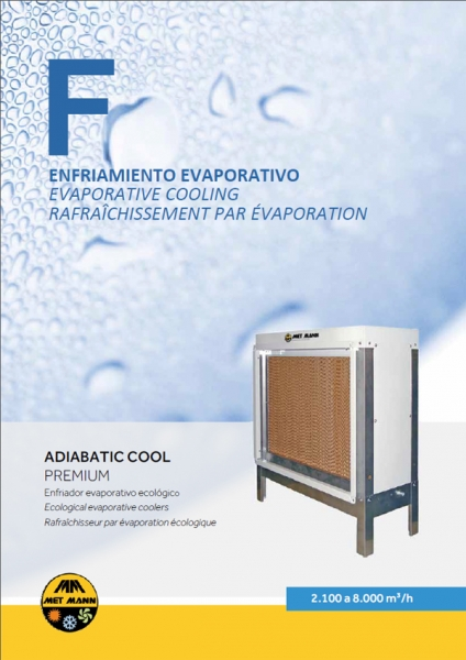 Humidificateur adiabatique de 2 100 à 8 000 m3/h - ADIABATIC COOL PREMIUM