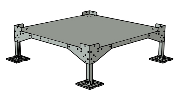 Metal base stand with legs - BBP-09