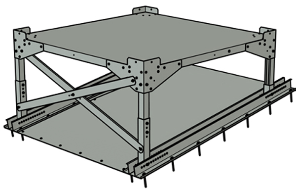 Metal roofing stand - KBT-09