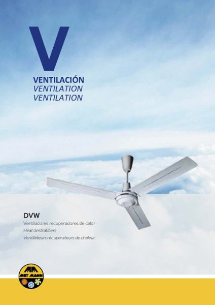 Ceiling fans for heat recovery and ventilation - DVW
