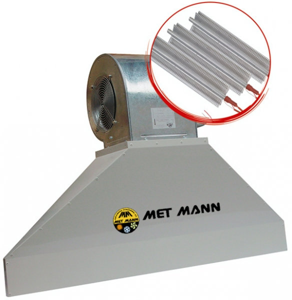 Industrial hot air curtain - 3,0 to 4,0 m high - VIS 20 E