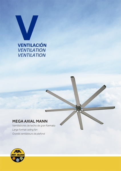 Ventilation of industrial buildings with ceiling fans - MEGA AXIAL MANN