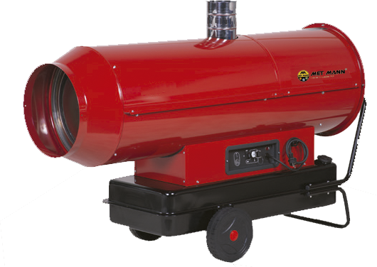 Portable diesel heater with smoke outlet 34 kW - AN-32