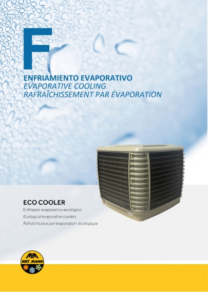 Axial industrial evaporative air coolers from 16,000 to 30,000 m3/h - ECO COOLER