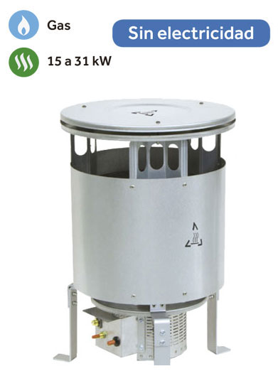 Gas heater for open spaces 15-31 kW | GW