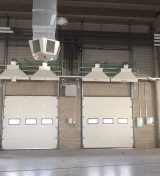 Hot air curtains installed in the new Correos warehouse in Madrid