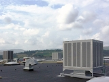 HVAC systems on large surfaces