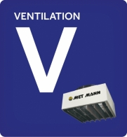 Industrial ventilation and air curtains