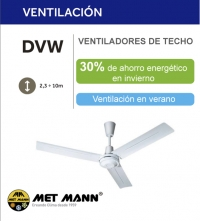 HEAT RECOVERY AND VENTILATION WITH DVW CEILING FANS