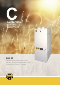 Domestic heating with hot gas air 15 to 34 kW - GAS-ES