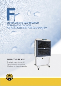 Portable axial evaporative air conditioner 8.000 m3/h - AXIAL COOLER 8000