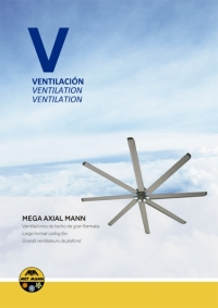 Large format ceiling fans from 3 to 7m in diameter - MEGA AXIAL MANN