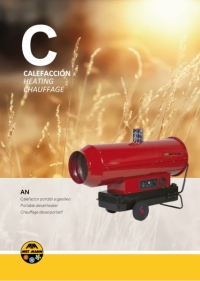 Portable diesel heating for enclosed spaces (34 to 90 kW) - AN