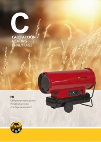 Portable diesel heaters without fireplace from 38 to 111 kW - MI