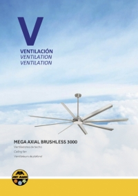 Ventilateur de plafond Brushless 3m - MEGA AXIAL BRUSHLESS 3000