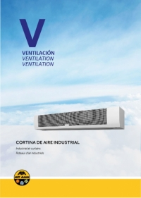 Industrial air curtain for doors up to 5m high - VIS 2000