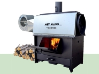 Wood stoves for industrial buildings: save in winter