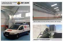 Air conditioning system with hot and cool air from MET MANN