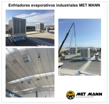 Evaporatoire air conditionné dans l′industrie du plastique à Sant Cugat (Barcelone)
