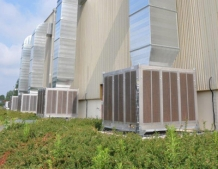 Evaporative coolers installed in disco of France