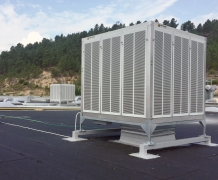 Evaporative air conditioning in the automotive sector