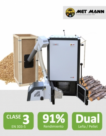Wood boilers and pellet 25-35-45 kW - SAVER COMBI