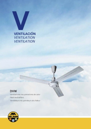 Ceiling fans to recover heat - DVW