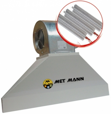 Industrial hot air curtain - 3.2 to 4.5 m high - VIS 30 E