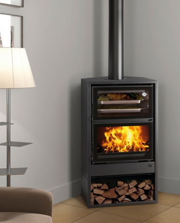 Wood burning stoves with oven and air fan - 200-H