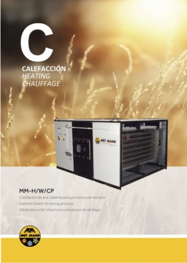 Cabinet heater to drying processes for post-harvest and paint booths - MM-H / W / CP