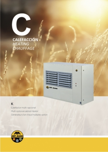 Hot air air heaters with gas operation from 23 to 34 kW - K