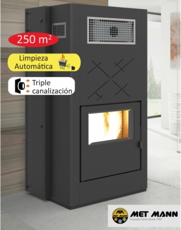 High power pellet stove 28 kW - PELLET AIRE 25 C