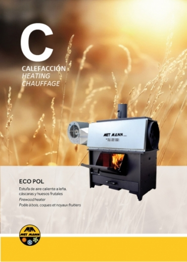 Industrial wood stoves with fan to 50 and 100 kW - ECO POL