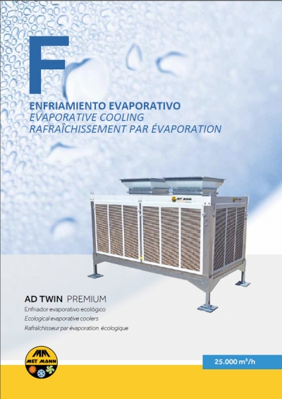 EVAPORATIVE CONDITIONER WITH DOUBLE EXIT - AD TWIN