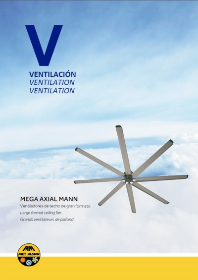 Large format ceiling fans; energy saving and ideal temperature