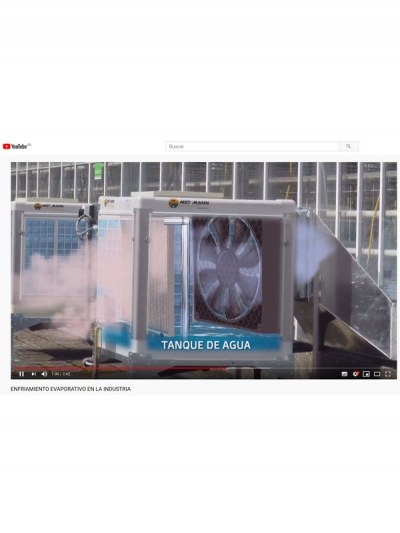 Evaporative cooling for air conditioning of large premises