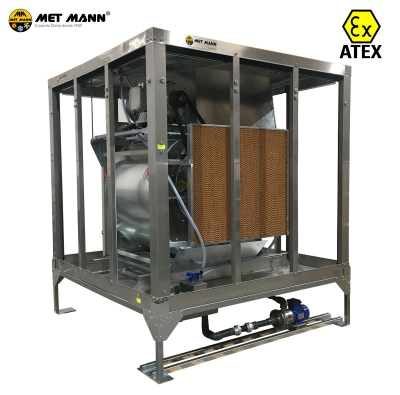 Evaporative coolers ATEX for explosive atmospheres