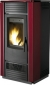 Hydro pellet stove for 230m2 red color steel - PELLET HIDRO 27 V