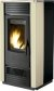 Hydro pellet stove for 230m2 cream color steel - PELLET HIDRO 27 V