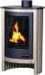 Exclusive design wood stove 11 kW cream color - DESIGN FLAMME 11