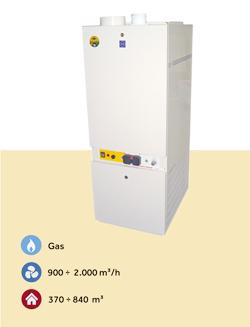caldera de aire caliente a gas