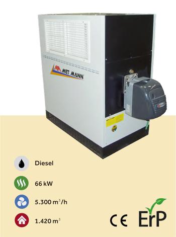 calefactor industrial instalación mural