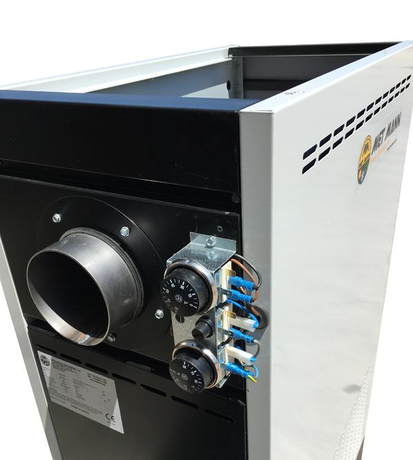 salida de humos y termostatos de funcionamiento