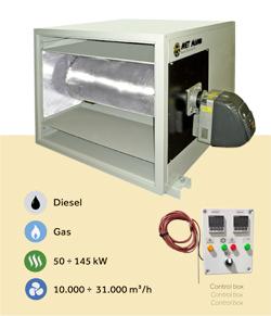 cabinas para incrementar la temperatura del aire