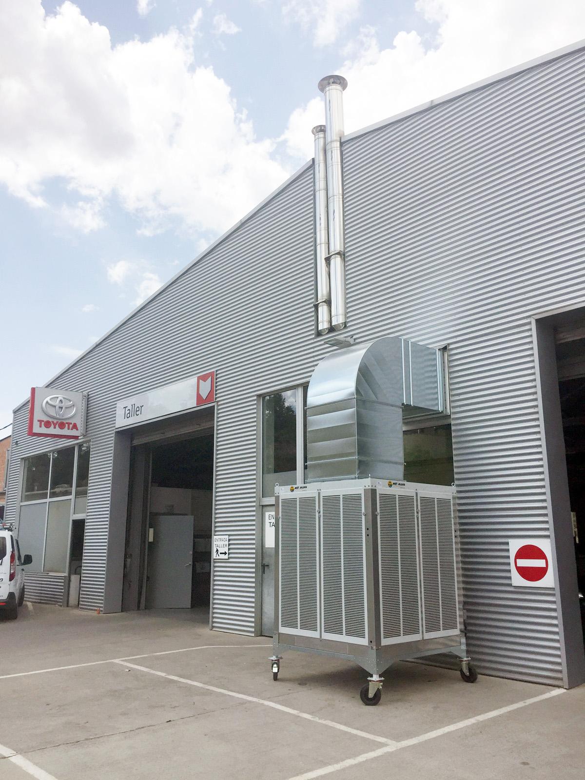 climatizador evaporativo industrial portatil