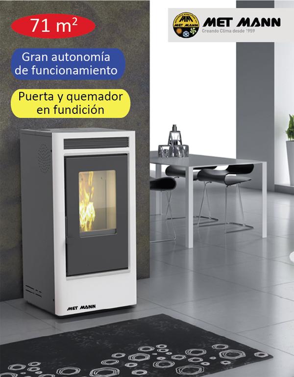 estufa pellet aire caliente 7kW
