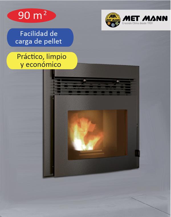 insertable de pellet aire caliente